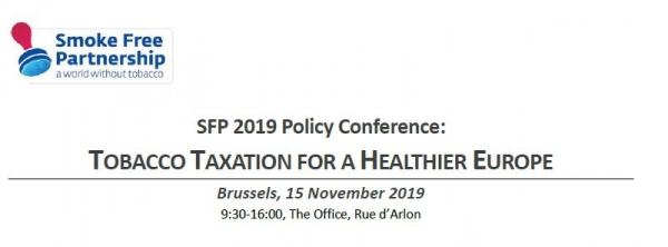 SFP Policy Conference 2019: Tobacco Taxation for a Healthier Europe