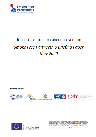 SFP Briefing Paper: Tobacco Control for Cancer Prevention